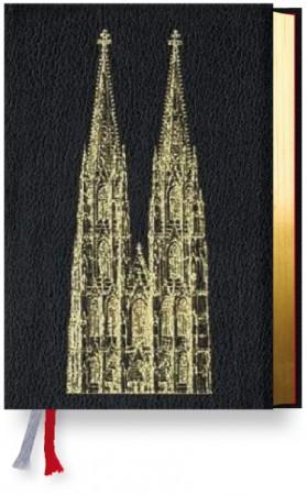 Gotteslob Leder schwarz mit Goldschnitt und Domprägung - Erzbistum Köln - Gebet- und Gesangbuch Diözese Köln