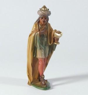 König Mohr  - Tiroler Weihnachtskrippe - Krippenfigur aus Berkalith