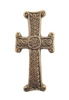 Romanisches Kreuz - Bronze