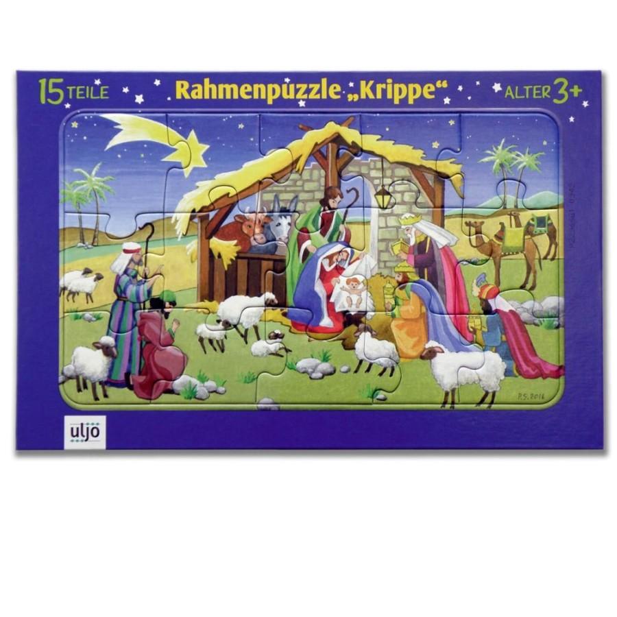 Rahmenpuzzle - Krippe
