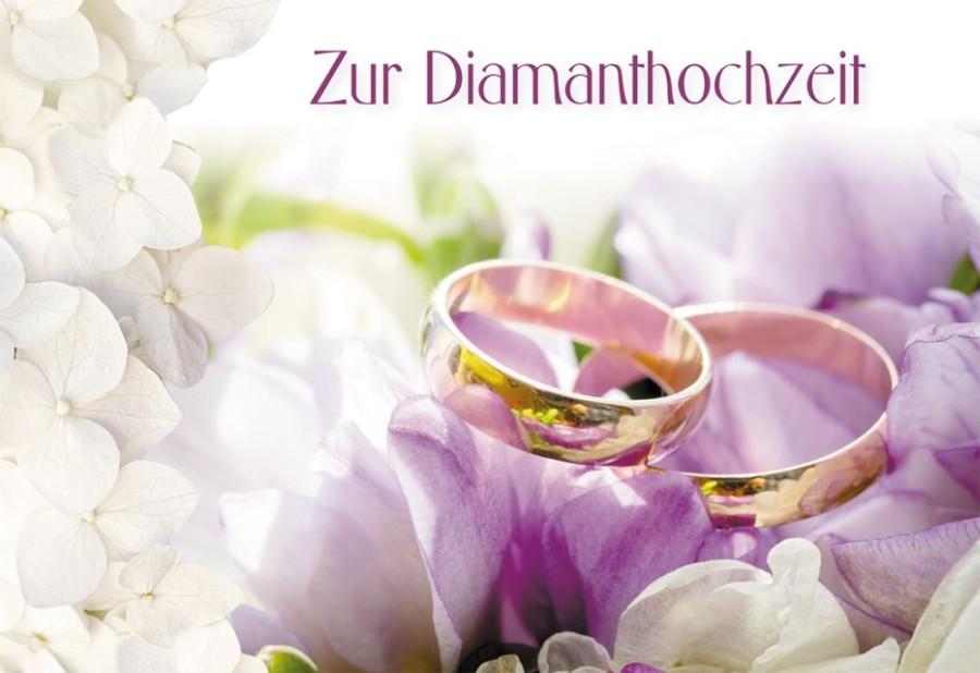 Glückwunschkarte Zur Diamanthochzeit