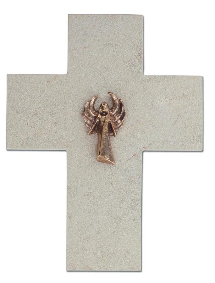 Natursteinkreuz Engel