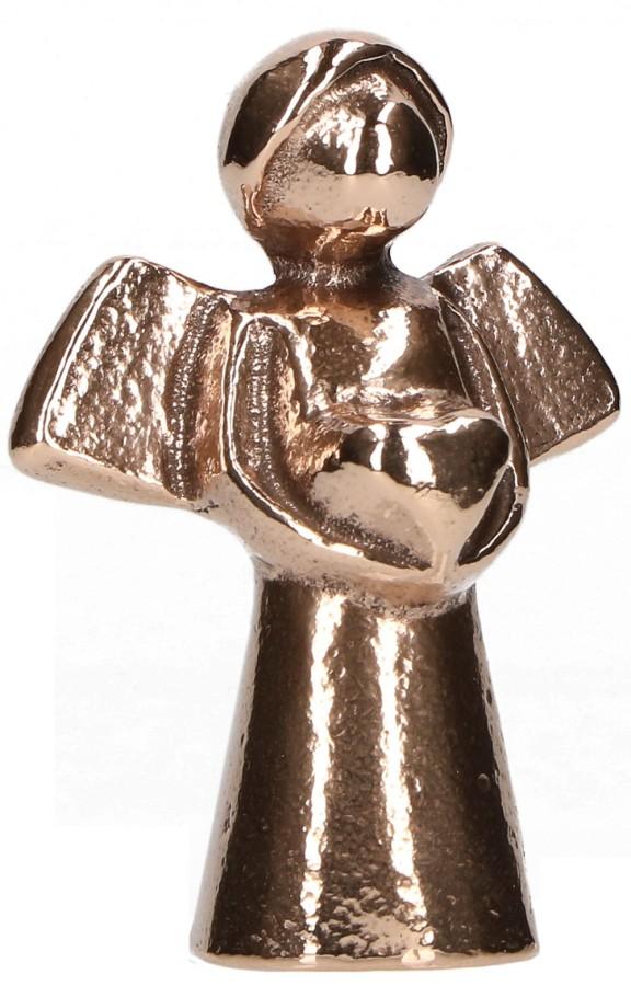 Bronzefigur - Engel mit Herz