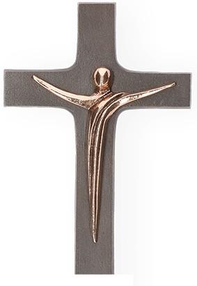 Kreuz mit Korpus aus Bronze