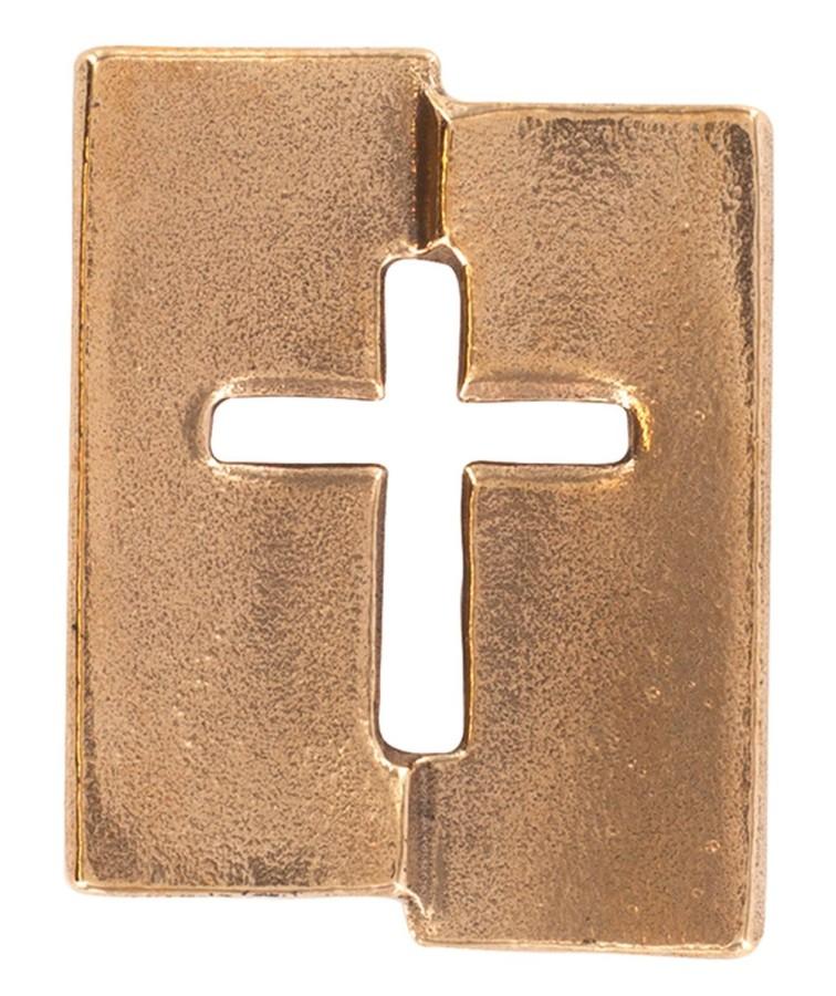 Kreuzplakette aus Bronze