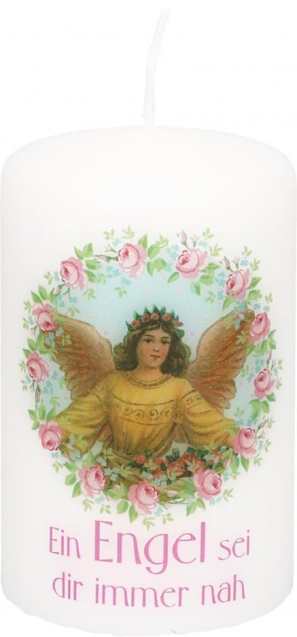 Stumpenkerze Ein Engel sei dir immer nah