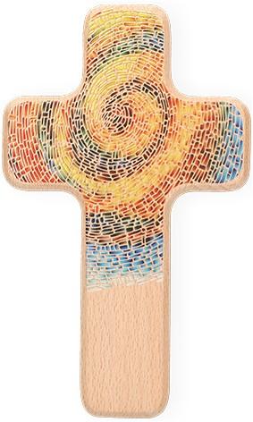 Holzkreuz Spirale