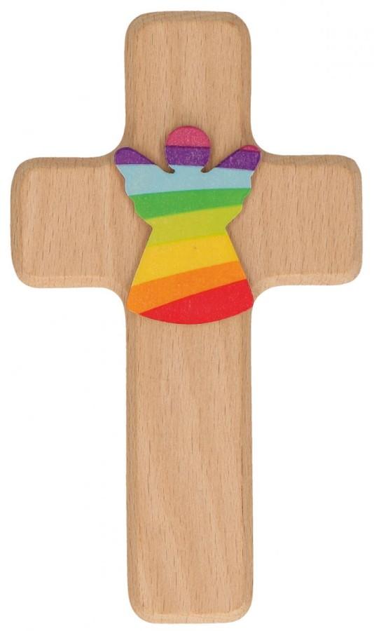 Kinderholzkreuz Schutzengel