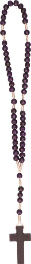 Rosenkranz mit violetten Holzperlen