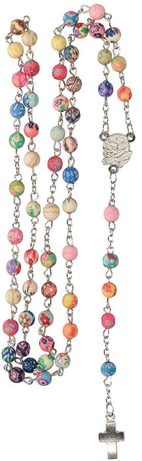 Rosenkranz mit bunten Kunststoff-Perlen