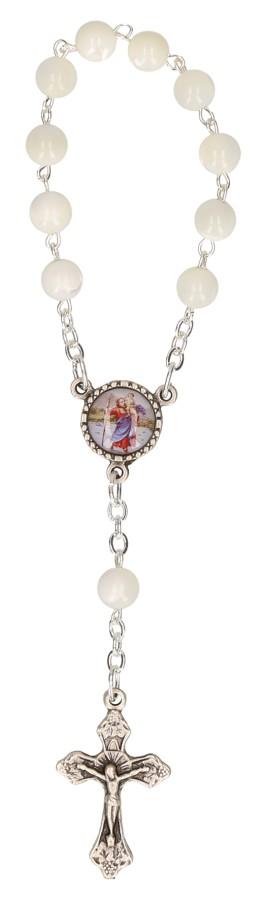 10er-Rosenkranz mit Glasperlen