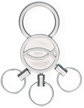 Schlüsselanhänger Fisch mit 3 abnehmbaren Ringen