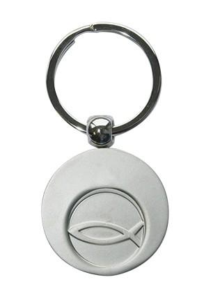 Schlüsselanhänger Fisch mit Einkaufswagen-Chip