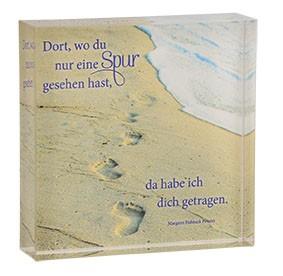Relief zum Aufstellen Spuren im Sand aus Acrylglas