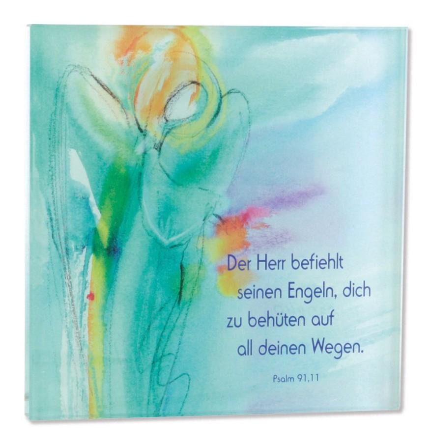 Glasrelief Engel