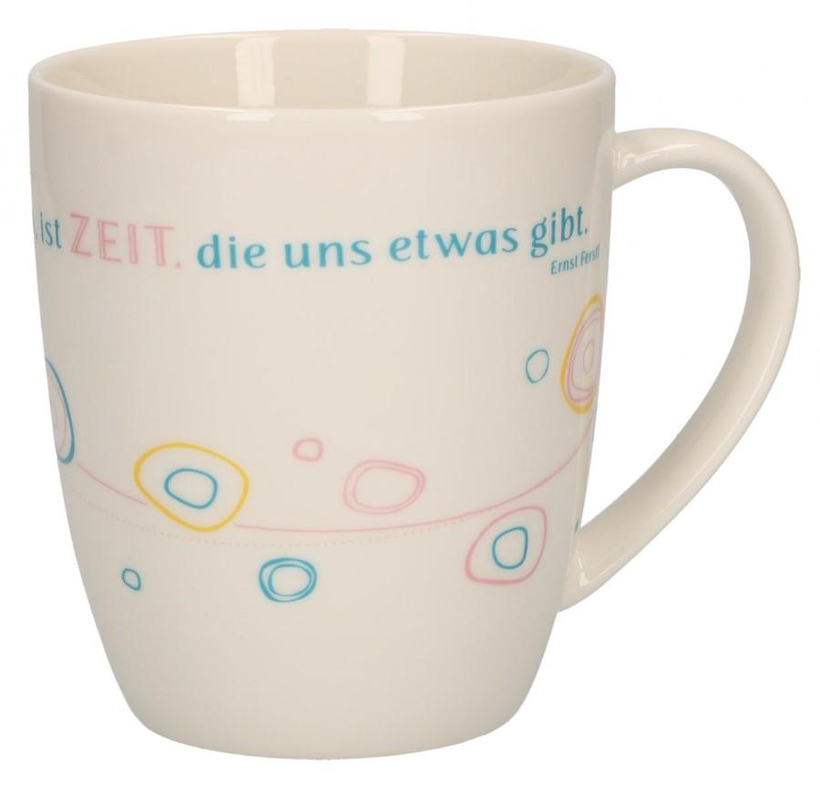 Porzellan-Tasse Zeit