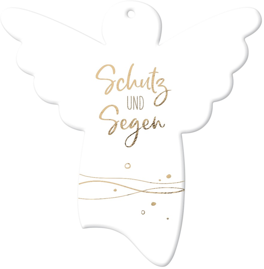 Engel-Anhänger aus Porzellan - Schutz und Segen