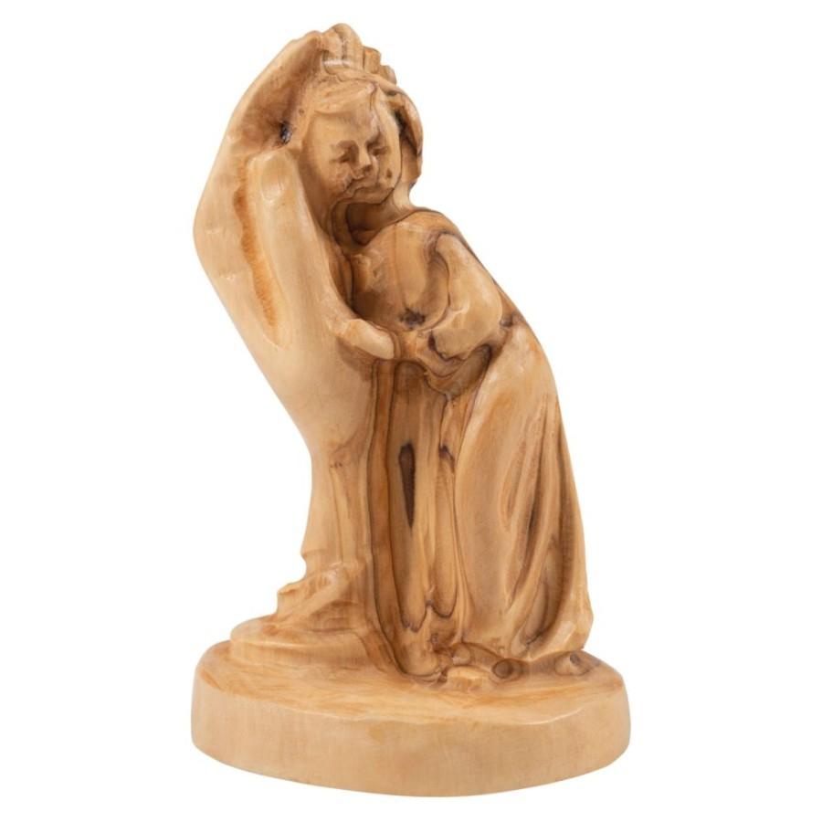 Figur aus Olivenholz - Kind in Hand
