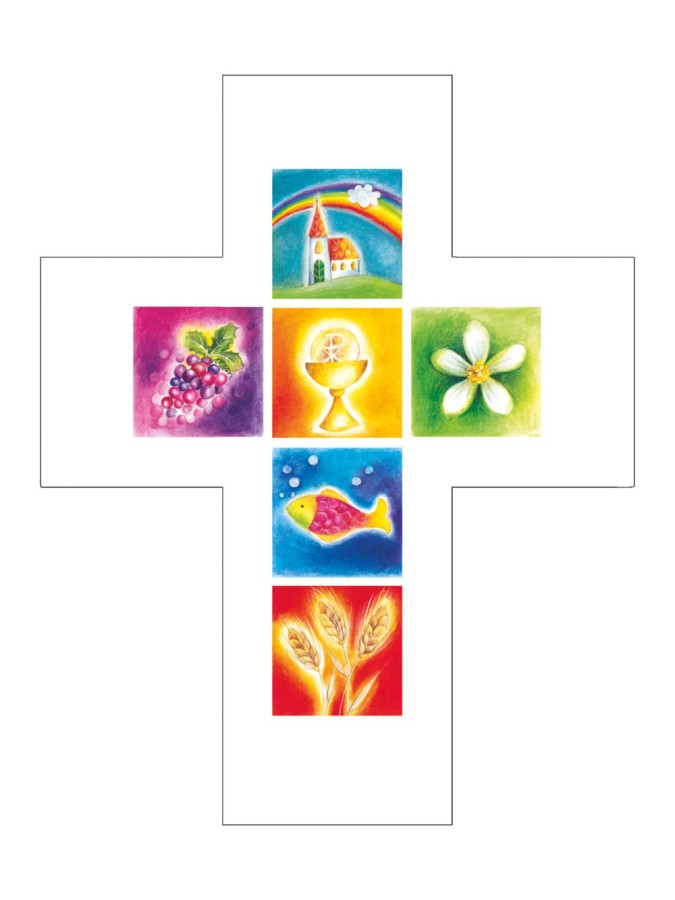 Kreuz Glauben macht das Leben bunt