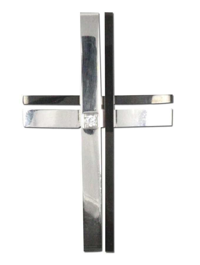 Glattes Edelstahl-Kreuz