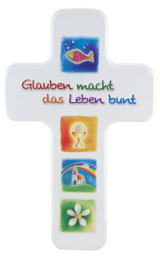 Kinderkreuz - Glauben macht das Leben bunt