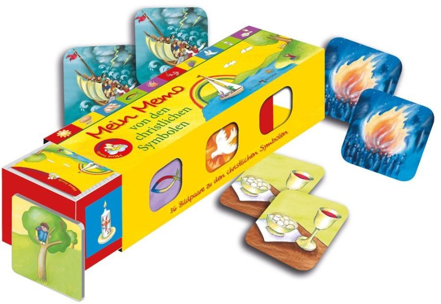Mein Memo von den christlichen Symbolen - Kartenlegespiel mit 36 Bildpaaren