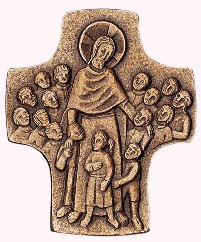 Bronzekreuz Jesus der Kinderfreund