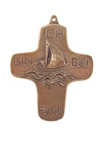 Bronzekreuz Schiff Ich bin bei euch