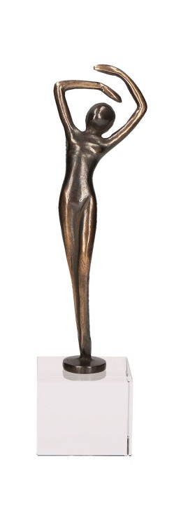 Ballerina Eleganz auf Glassockel