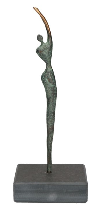 Figur Athletin aus Bronze