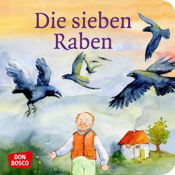 Die sieben Raben. Mini-Bilderbuch.