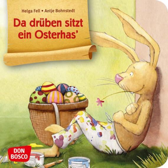 Da drüben sitzt ein Osterhas. Mini-Bilderbuch.