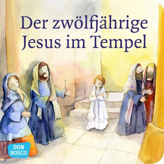 Der zwölfjährige Jesus im Tempel. Mini-Bilderbuch.