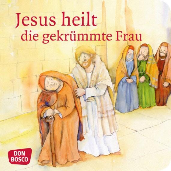 Jesus heilt die gekrümmte Frau. Mini-Bilderbuch