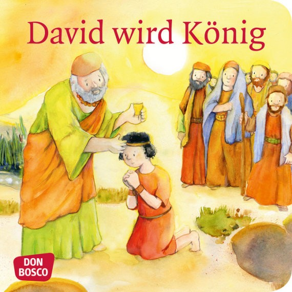 David wird König. Mini-Bilderbuch