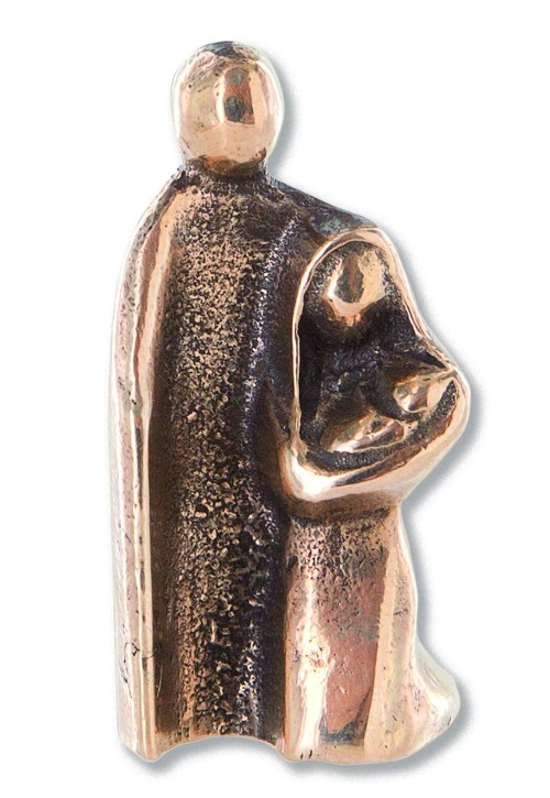 Bronzefigur Heilige Familie