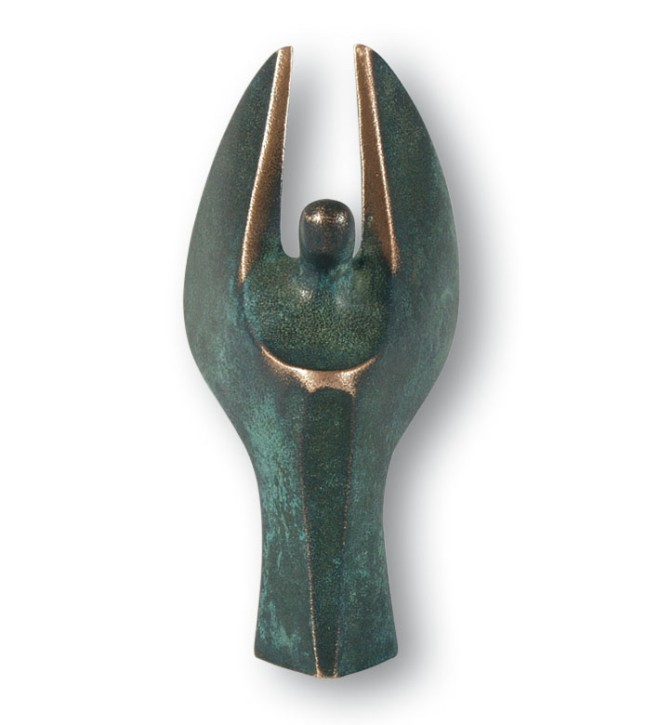Mini-Engel Bronze 7,5 cm