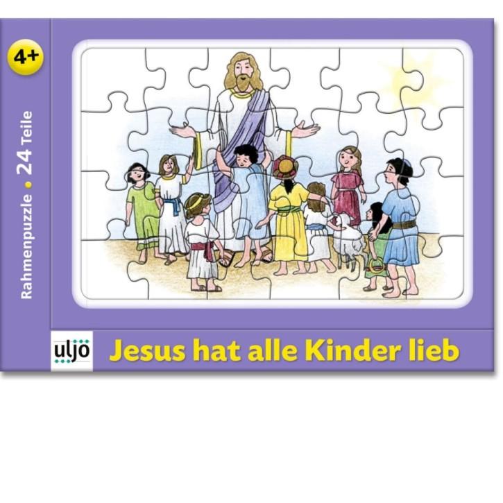 Rahmenpuzzle - Jesus hat alle Kinder lieb