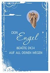 Klappkarte mit Bronze-Engel Dein Engel behüte dich auf all deinen Wegen