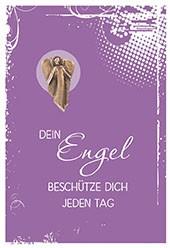 Klappkarte mit Bronze-Engel Dein Engel beschütze dich jeden Tag