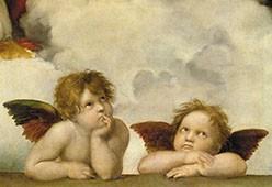 Klappkarte Zwei Engel