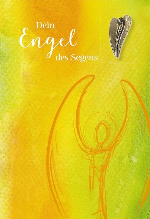 Klappkarte mit Bronze-Engel Dein Engel des Segens