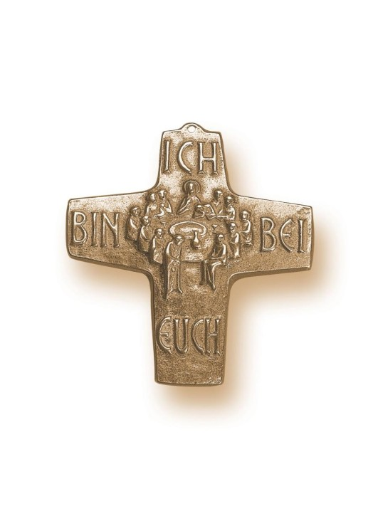 Kommunionkreuz - Bronzekreuz Abendmahl