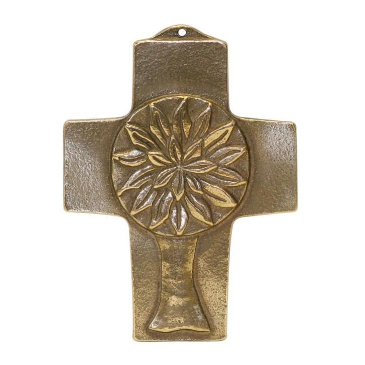 Kommunionkreuz - Bronzekreuz Lebensbaum