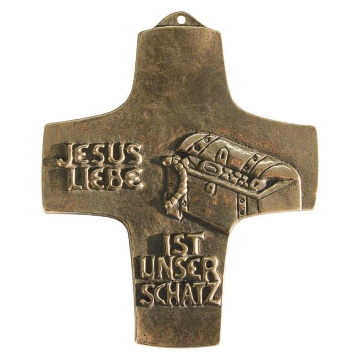 Kommunionkreuz - Jesus Liebe ist unser Schatz