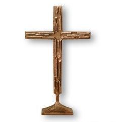 Stehkreuz aus Bronze - Größe 60 cm