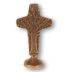 Stehkreuz Lebensbaum aus Bronze - Größe 12  cm