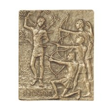 Bronzerelief Sebastian