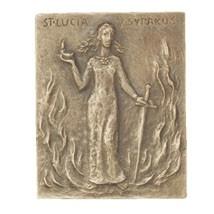 Bronzerelief Lucia