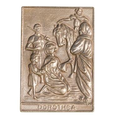 Bronzerelief Dorothea